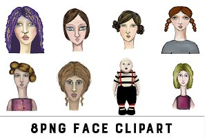 Doll Face - Digital Hand Drawn Faces