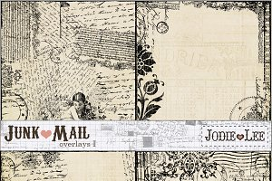 Junk Mail Postal Texture Overlays #1