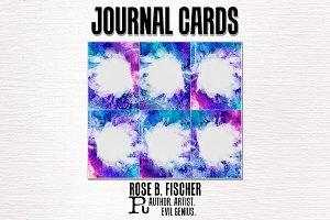 Journal Cards (Blue Grunge 2)