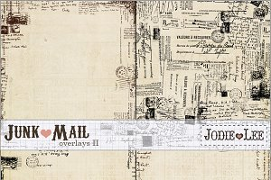 Junk Mail Postal Texture Overlays #2