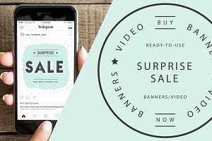 SURPRISE SALE Banners & Video