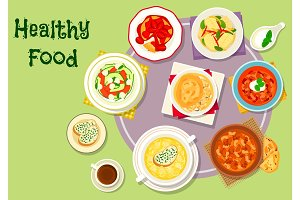 Hearty food icon for menu or recipe design