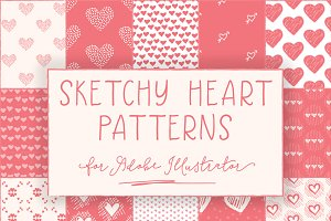 Sketched Heart Patterns