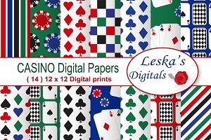 Poker Party - Casino Digital Paper