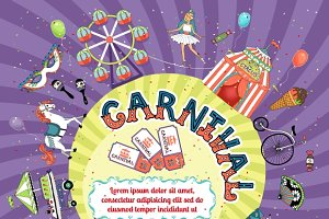 carnival invitation design