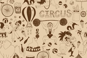 Retro seamless circus background