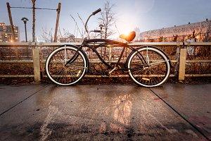Retro style vintage bicycle
