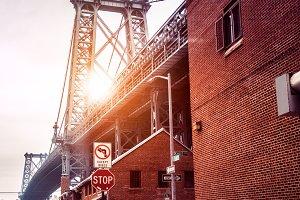 New York City street in Brooklyn