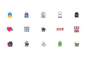 Store Shopping Vector Set Element
