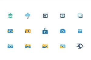 Camera Photograph Vector Set Element