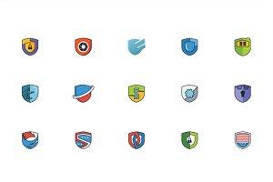 Shield Security Vector Set Element