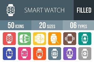 50 Smat Watch Round Corner Icons