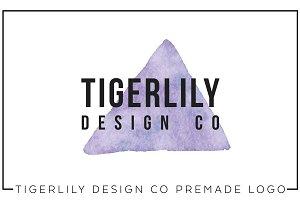 Purple Watercolor Triangle Logo A05