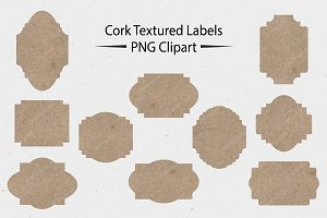 Cork Textured Labels - PNG Clipart