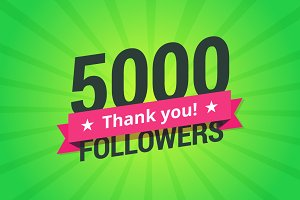 5000 Followers