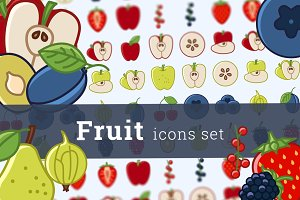 Fruit icons (26 + 18)