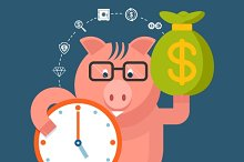 Time Is Money - banking pig