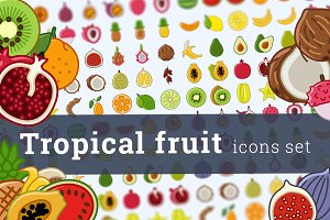 Tropical fruit icons (50 + 48)