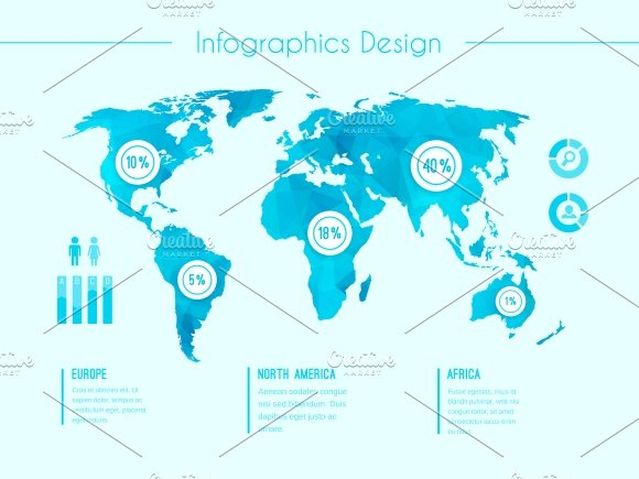 world map infographic template illustrations creative market