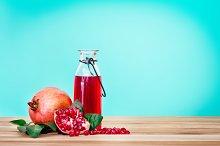 Fresh red pomegranate juice