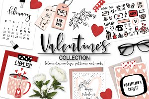 Valentine's Day Overlays & Clipart
