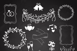 Wedding chalkboard banners / ribbons