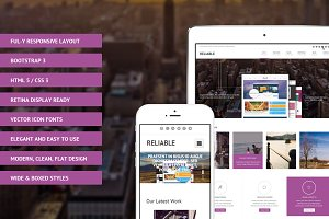 Reliable Bootstrap  Site Template