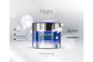 Vector premium cream ads