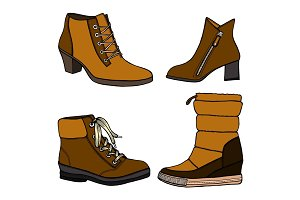 woman fall and winter shoes