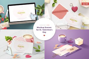 Mockup Scenes for St.Valentine's day