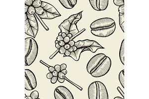 coffee - seamless pattern