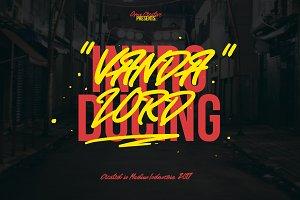 Vandalord Grafiti Font (Prelaunch)