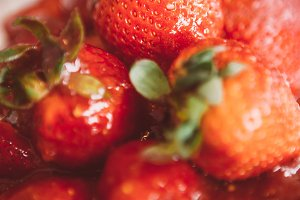 Close-up of delicious strawberry