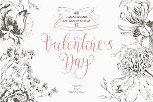 Valentines Day. Love. Calligraphy.