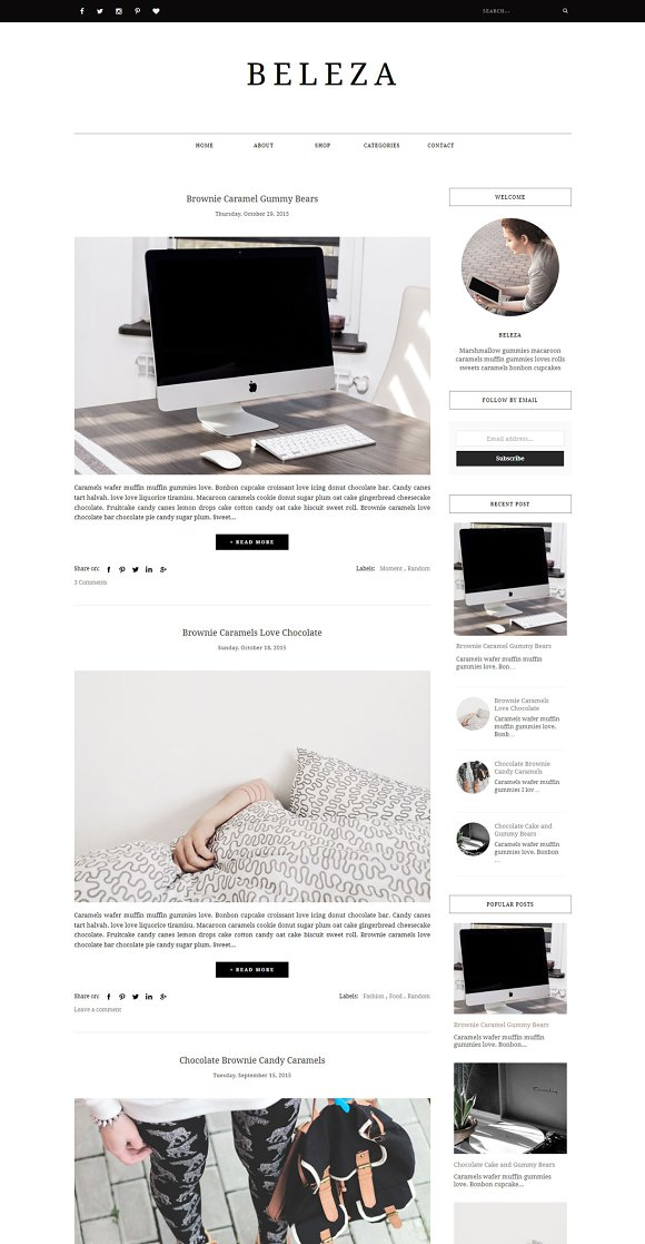 Blogger Template Responsive - BELEZA ~ Website Templates ~ Creative ...