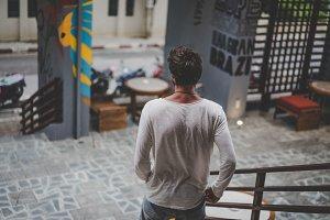 Urban portrait of a man