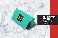 Business Card Stacks Mock-Ups
