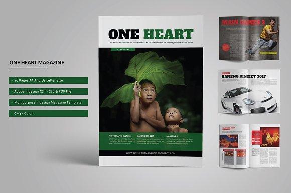 One Heart Magazine Template