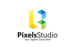 Letter B | Pixels | Logo Template