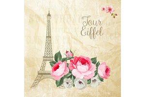 Eiffel tower card.