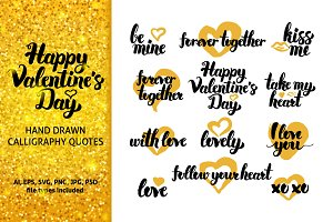 Valentine's Day Hand Drawn Quotes