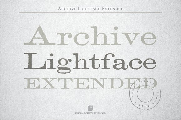 Archive Lightface Extended