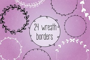 Wreath Garland Bundle // Vector, PNG