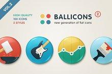 Ballicons 2 Vol.2 - flat icon set
