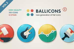 Ballicons 2 Vol.2 - flat icon set