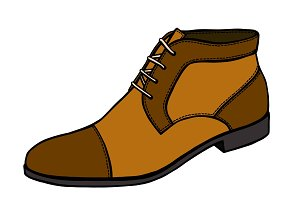 boot illustration in vector style.
