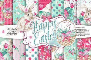 Watercolor Happy Easter DP pack 1