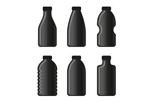 Water Bottle Icon Set