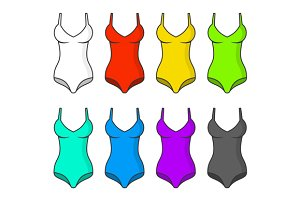 Woman Swimsuits Color Set