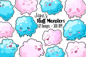 Kawaii Monsters Clipart